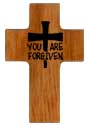 You Are Forgiven with a nail cross